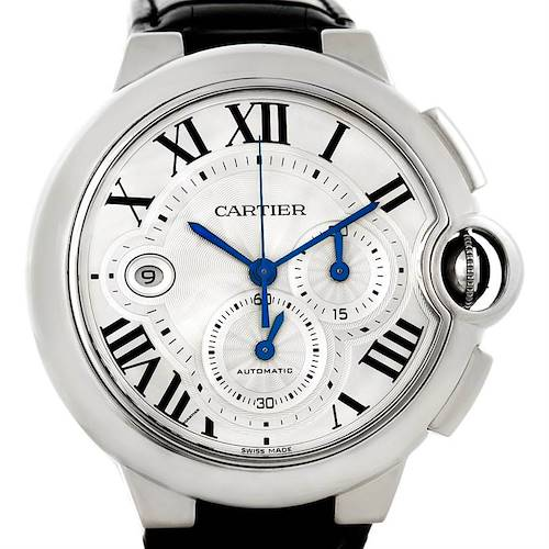 Photo of Cartier Ballon Bleu Steel Mens Chronograph Watch W6920003