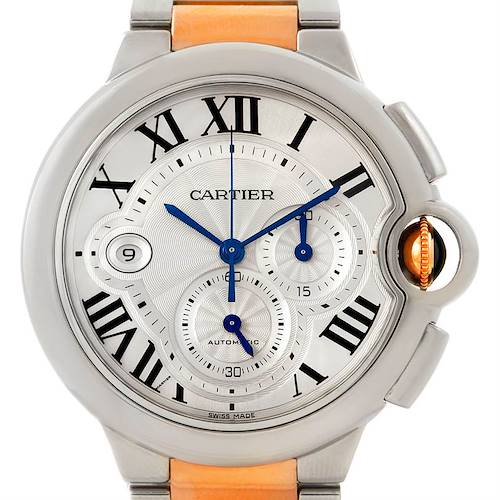 Photo of Cartier Ballon Bleu Steel Mens Chronograph Watch W6920063