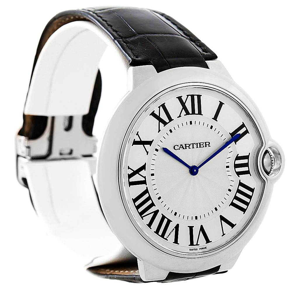 7964 Cartier Ballon Bleu XL 18K White Gold Mens Watch W6920055 Box Papers SwissWatchExpo