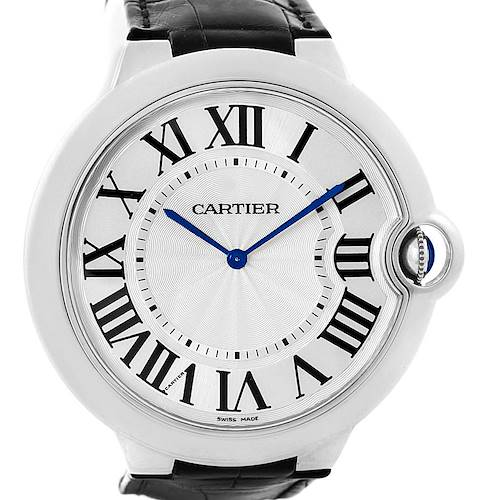 Photo of Cartier Ballon Bleu XL 18K White Gold Mens Watch W6920055 Box Papers