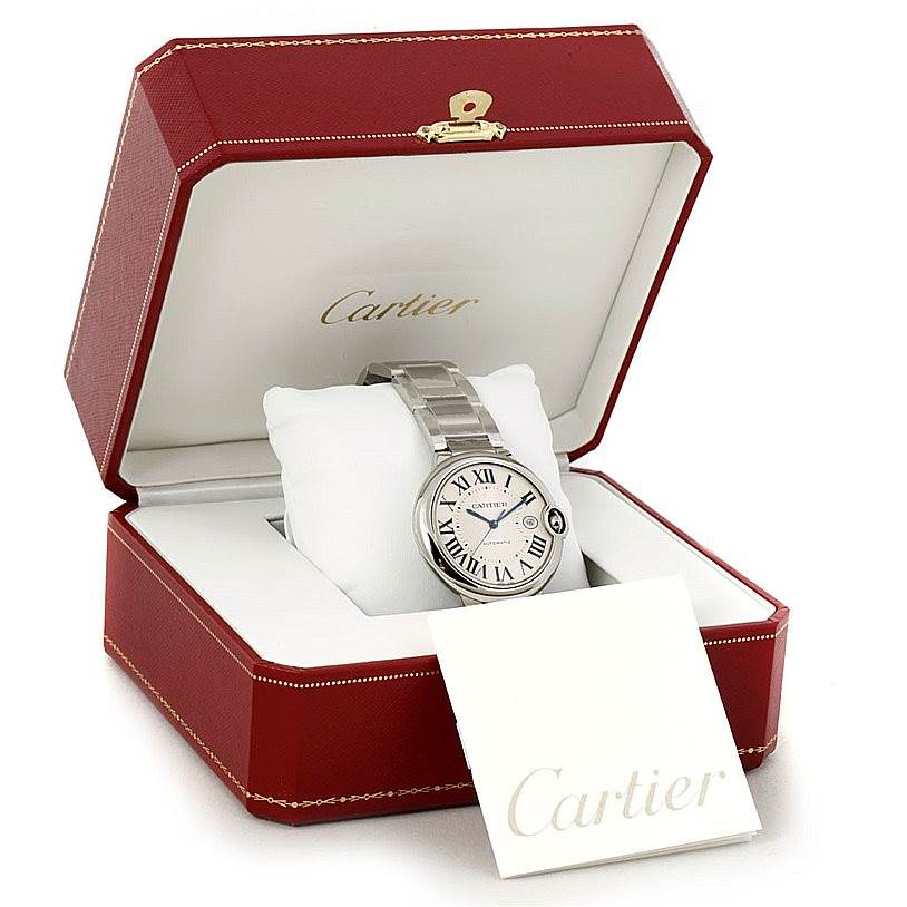8116 Cartier Ballon Bleu Steel Mens Watch W69012Z4 Unworn SwissWatchExpo