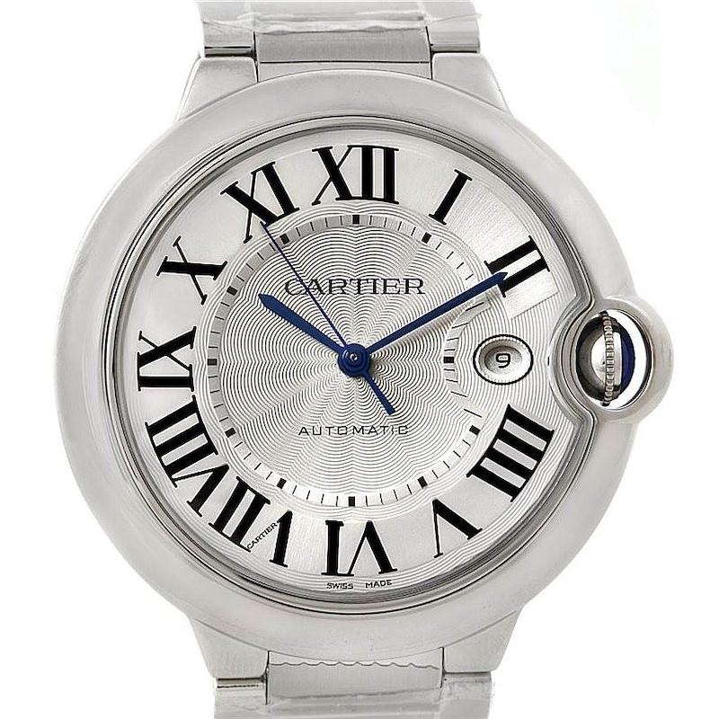 Cartier Ballon Bleu Steel Mens Watch W69012Z4 Unworn SwissWatchExpo