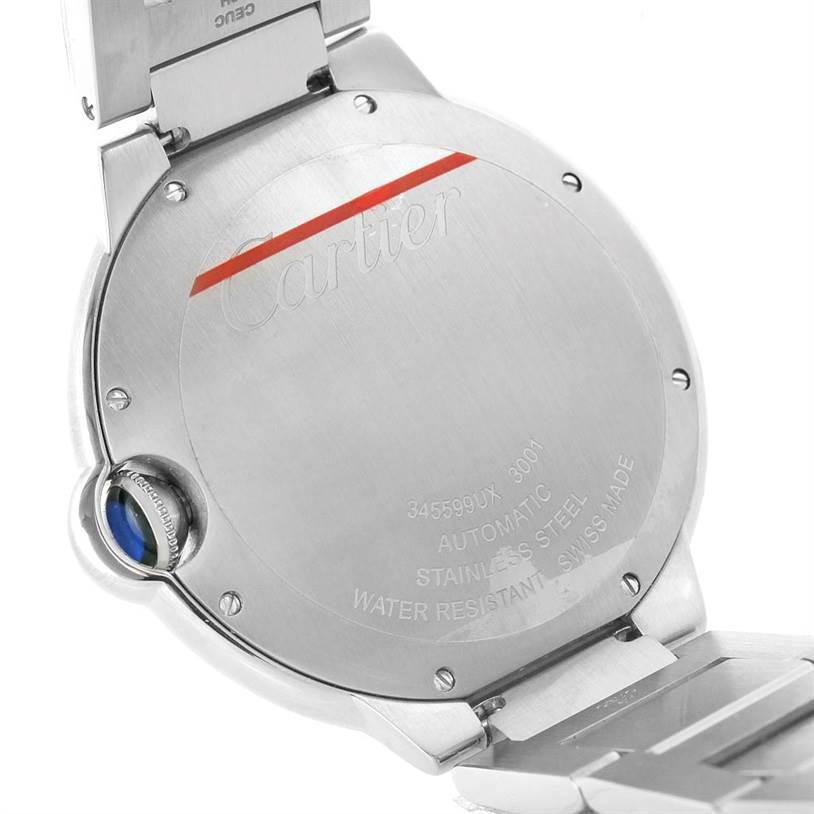 8115 Cartier Ballon Bleu Mens Steel Watch W69012Z4 Unworn  SwissWatchExpo