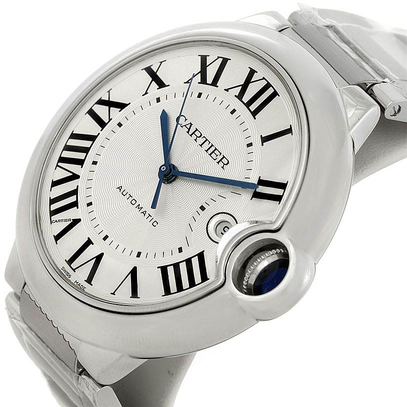 8117 Cartier Ballon Bleu Unworn Mens Steel Watch W69012Z4 SwissWatchExpo
