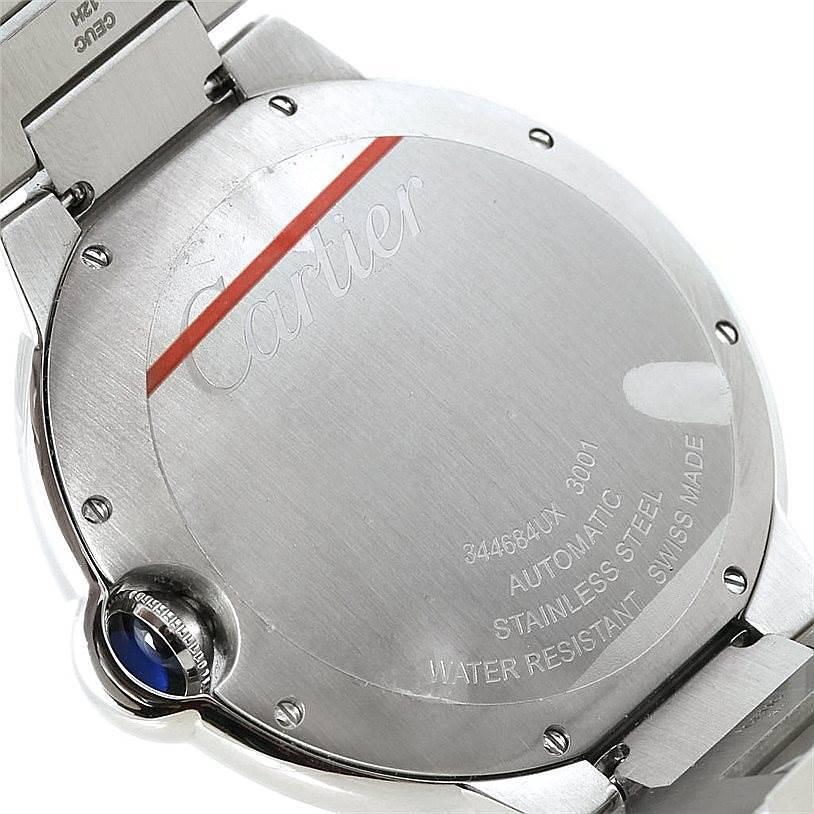 Cartier Ballon Bleu Unworn Mens Steel Watch W69012Z4 SwissWatchExpo