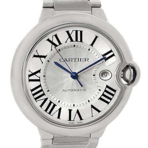 Photo of Cartier Ballon Bleu Unworn Mens Steel Watch W69012Z4