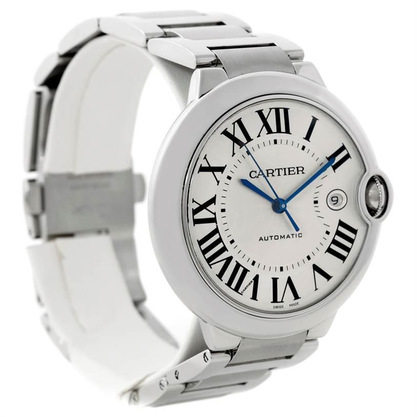8838 Cartier Ballon Bleu Mens Stainless Steel Watch W69012Z4 SwissWatchExpo