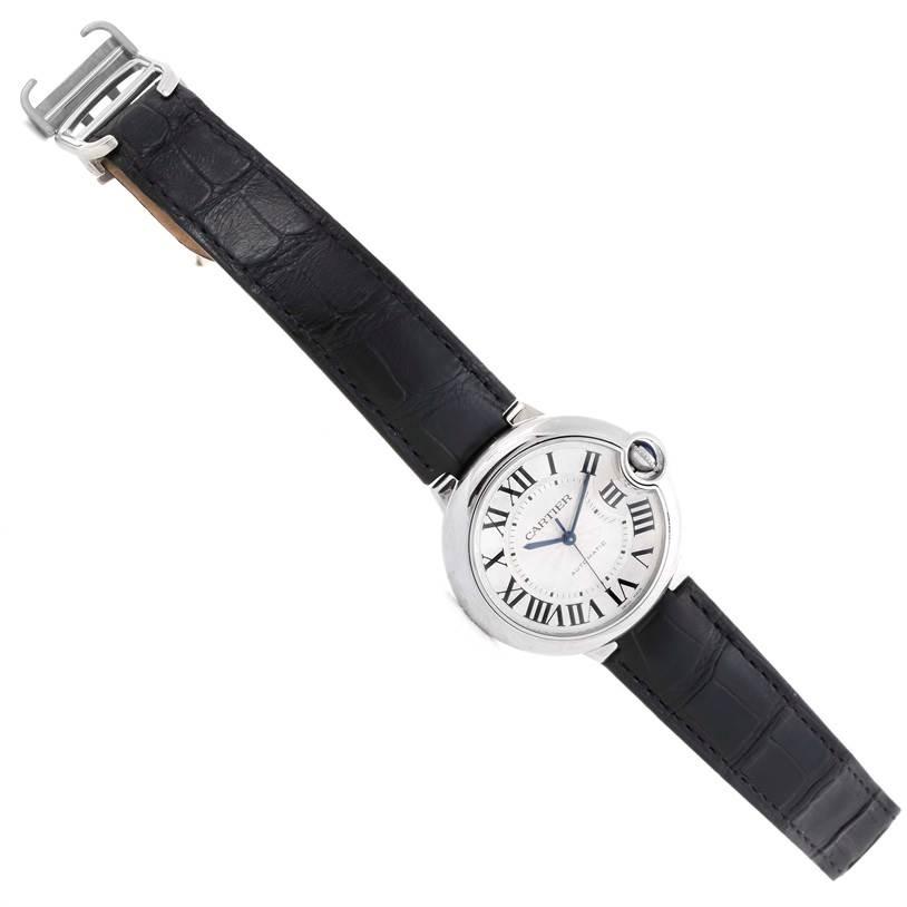 9935 Cartier Ballon Bleu Automatic Stainless Steel Watch W69017Z4 SwissWatchExpo