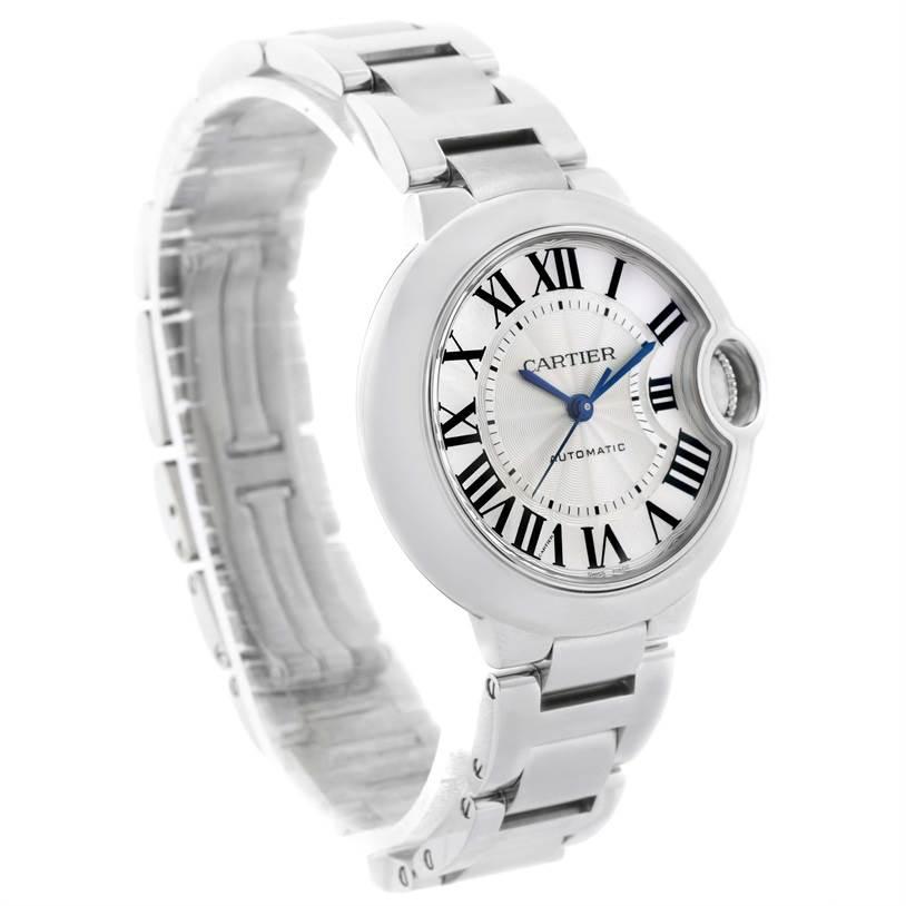 11624 Cartier Ballon Bleu Stainless Steel Automatic Womens Watch W6920071 SwissWatchExpo