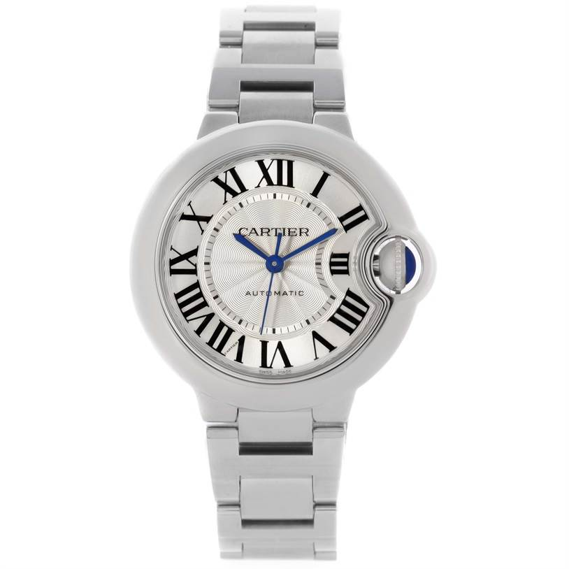 cartier ballon bleu stainless steel automatic womens