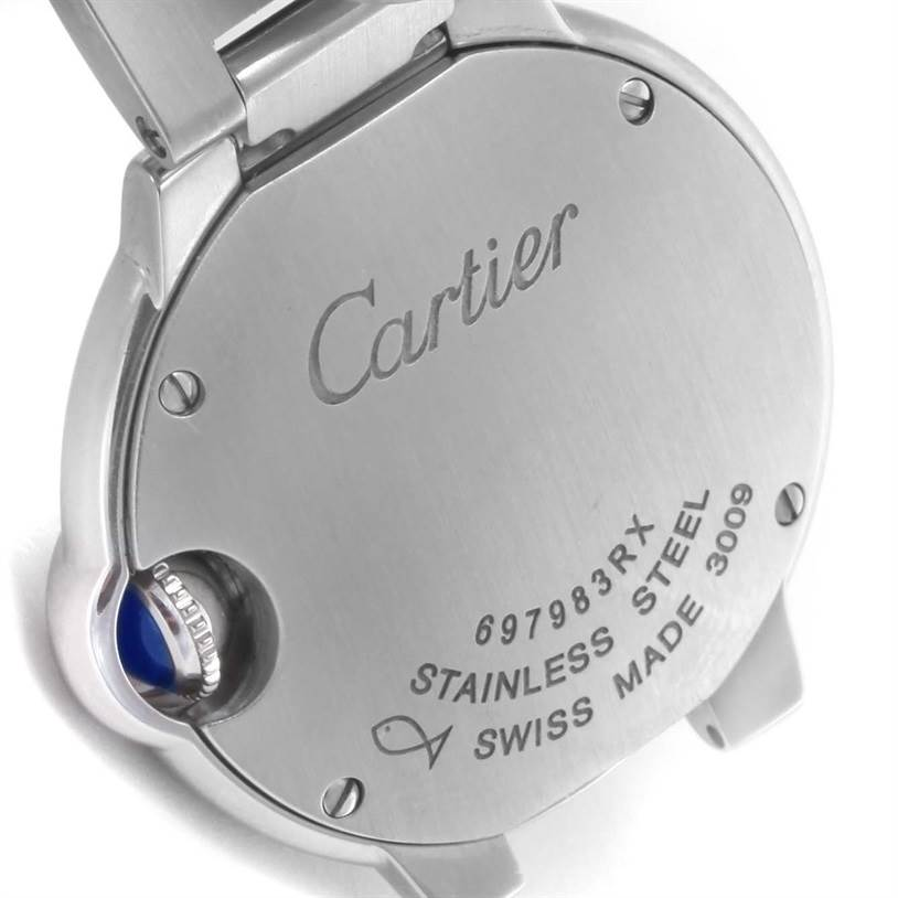 11956 Cartier Ballon Bleu Steel Small Ladies Watch W69010Z4 Box Papers SwissWatchExpo