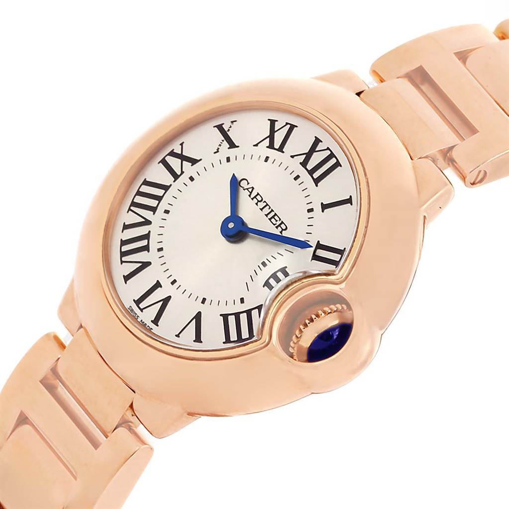13464 Cartier Ballon Blue 18K Rose Gold Small Ladies Watch W69002Z2 SwissWatchExpo