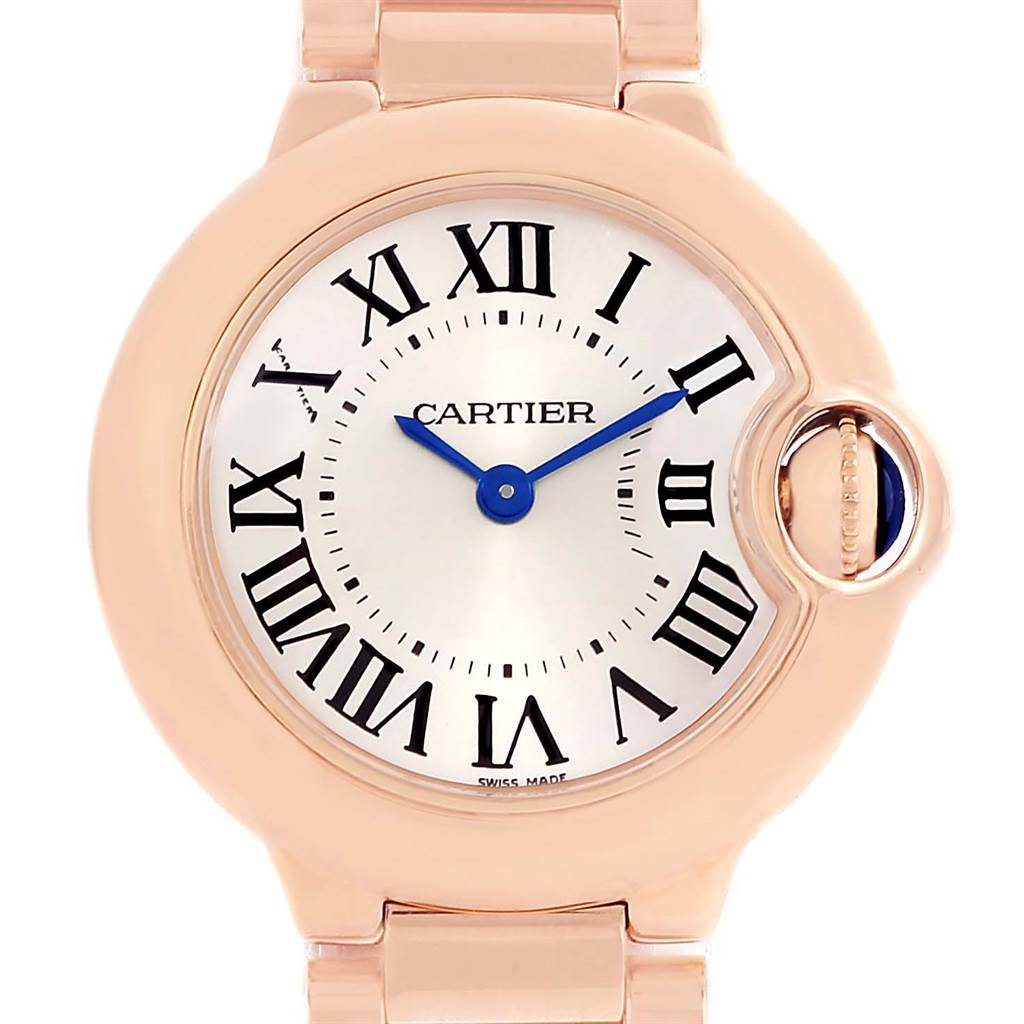 13464 Cartier Ballon Blue 18K Rose Gold Small Ladies Watch W69002Z2 SwissWatchExpo