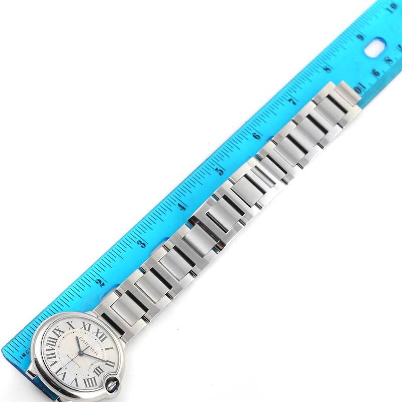 Cartier Ballon Bleu Steel Midzize Silver Dial Watch W6920046 Box Papers SwissWatchExpo