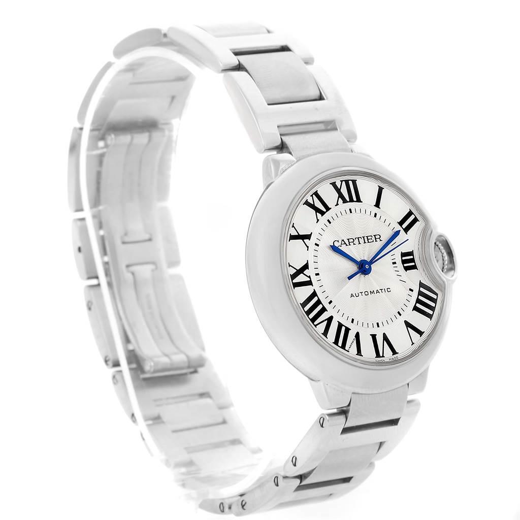 12799 Cartier Ballon Bleu Steel Midzize Silver Dial Watch W6920046 Box Papers SwissWatchExpo