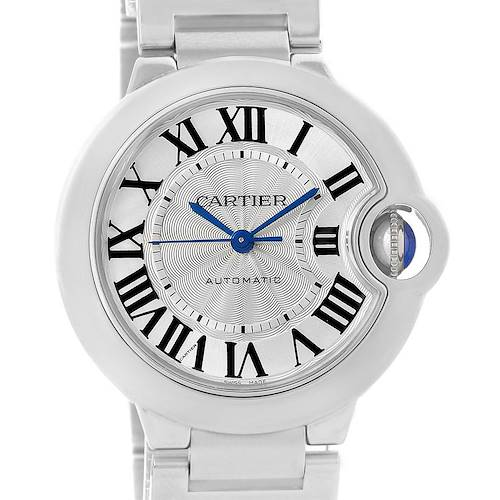 Photo of Cartier Ballon Bleu Steel Midzize Silver Dial Watch W6920046 Box Papers