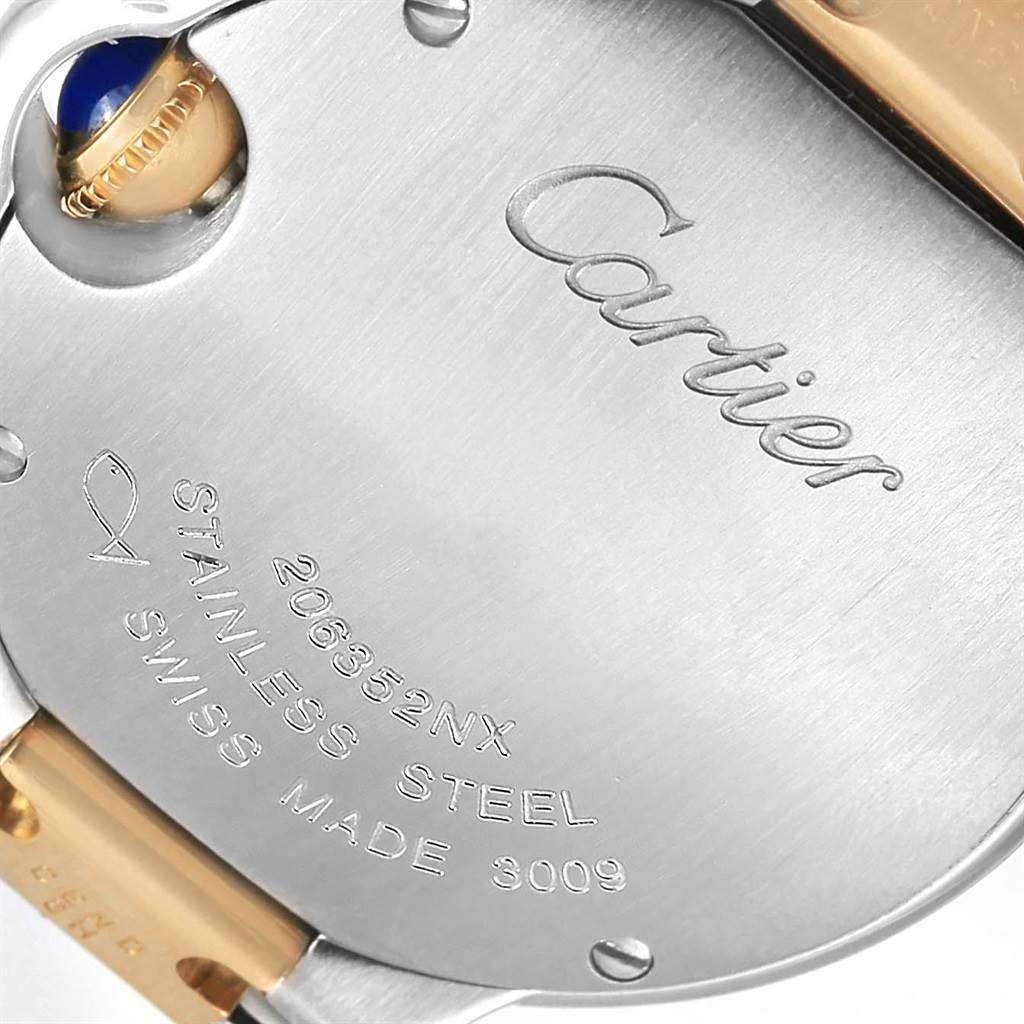 14005 Cartier Ballon Blue Steel 18K Yellow Gold Small Watch W69007Z3 SwissWatchExpo
