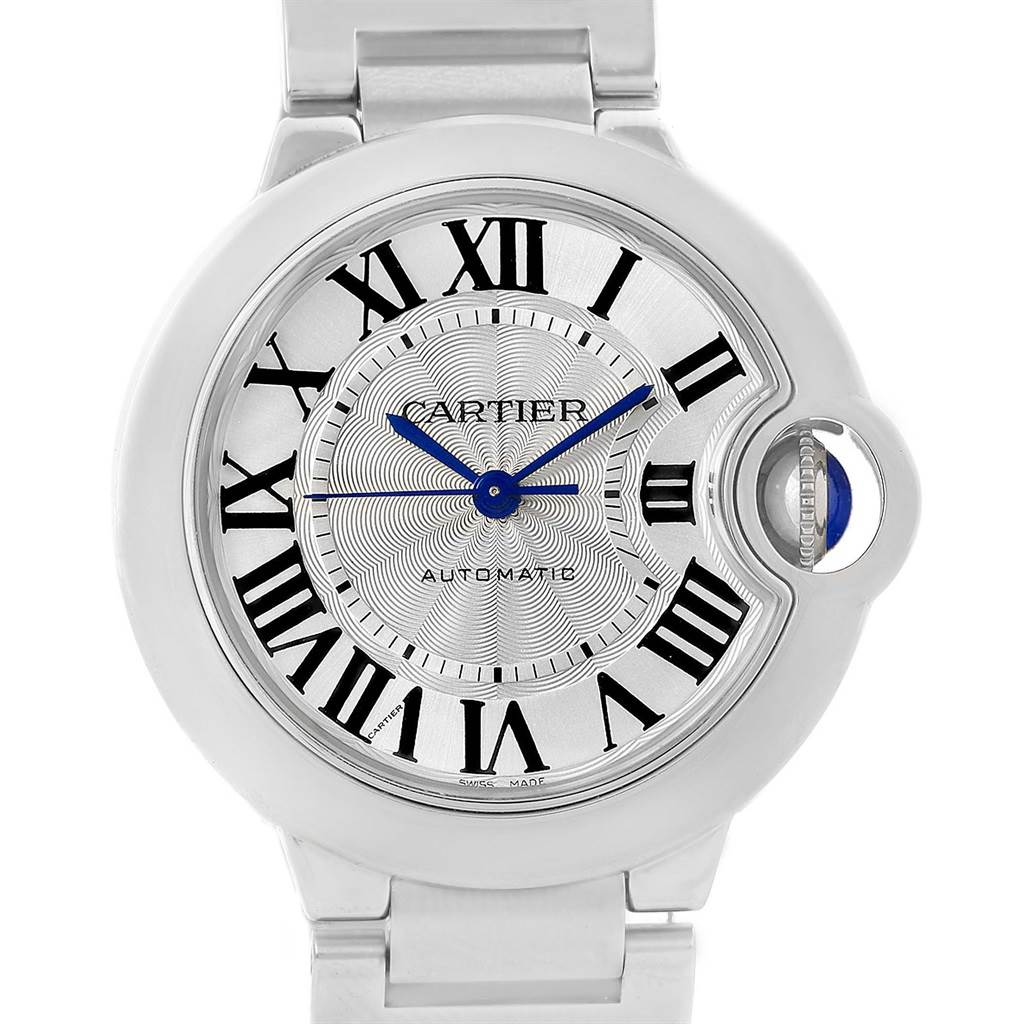 15335 Cartier Ballon Bleu Steel Midzize 36mm Ladies Watch W6920046 Box Papers SwissWatchExpo