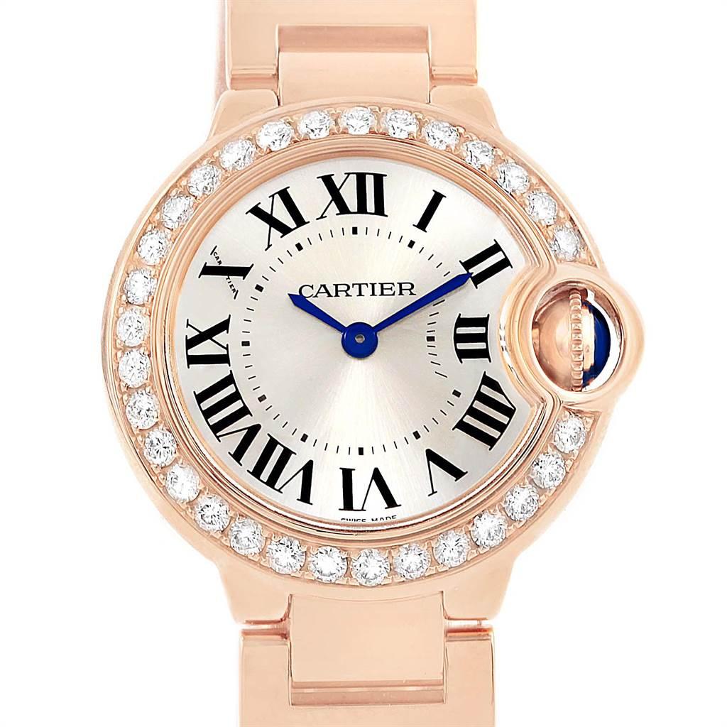 15496P Cartier Ballon Bleu Rose Gold Diamond Ladies Watch WE9002Z3 Box Papers SwissWatchExpo