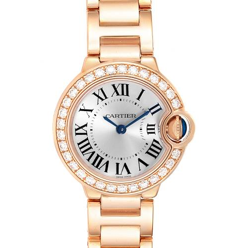 Photo of Cartier Ballon Bleu 29mm Rose Gold Diamond Ladies Watch WE9002Z3 Box Papers