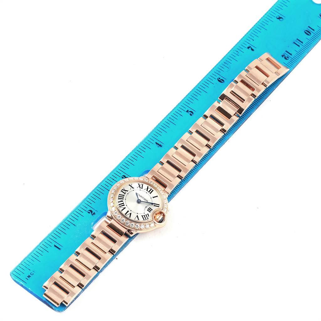 15880 Cartier Ballon Bleu 29mm Rose Gold Diamond Ladies Watch WE9002Z3 Box Papers SwissWatchExpo