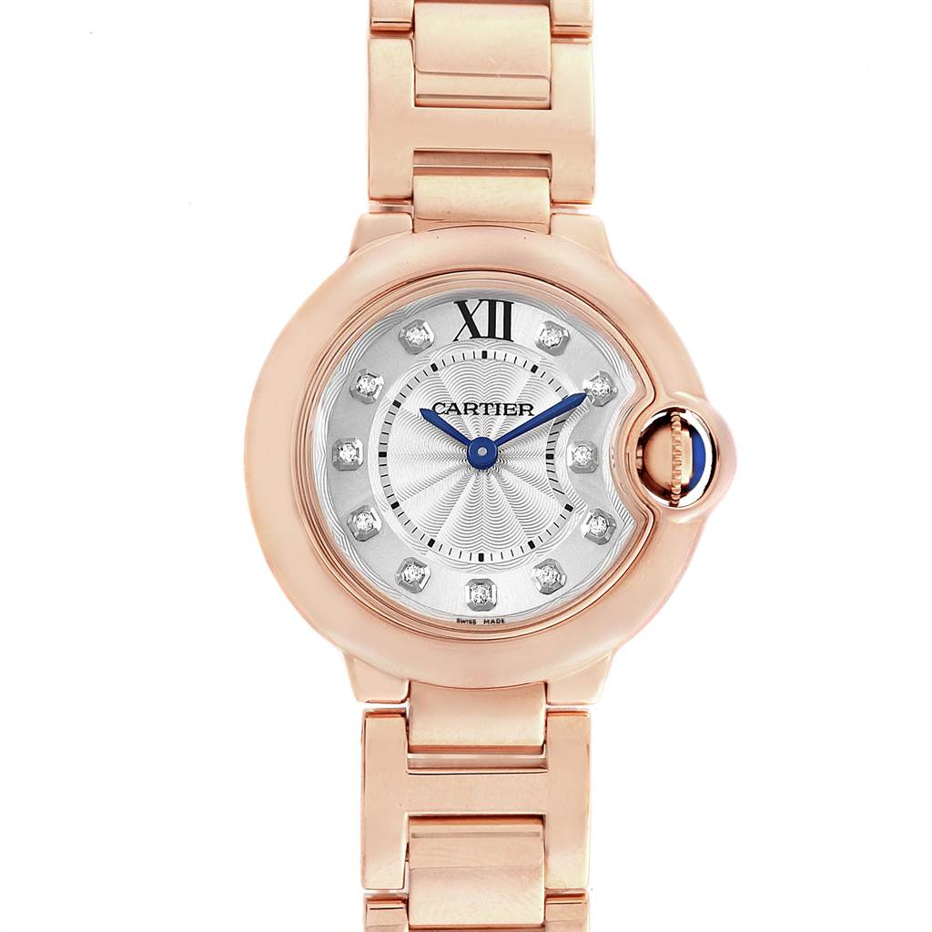 17592A Cartier Ballon Bleu Rose Gold Diamond Ladies Watch WJBB0016  SwissWatchExpo