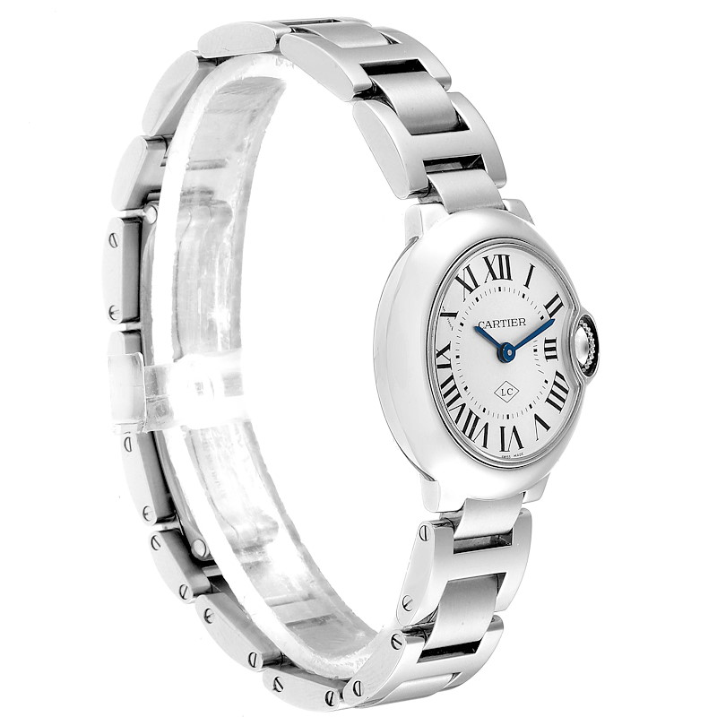 Cartier Ballon Bleu Stainless Steel Small Ladies Watch W69010Z4 SwissWatchExpo