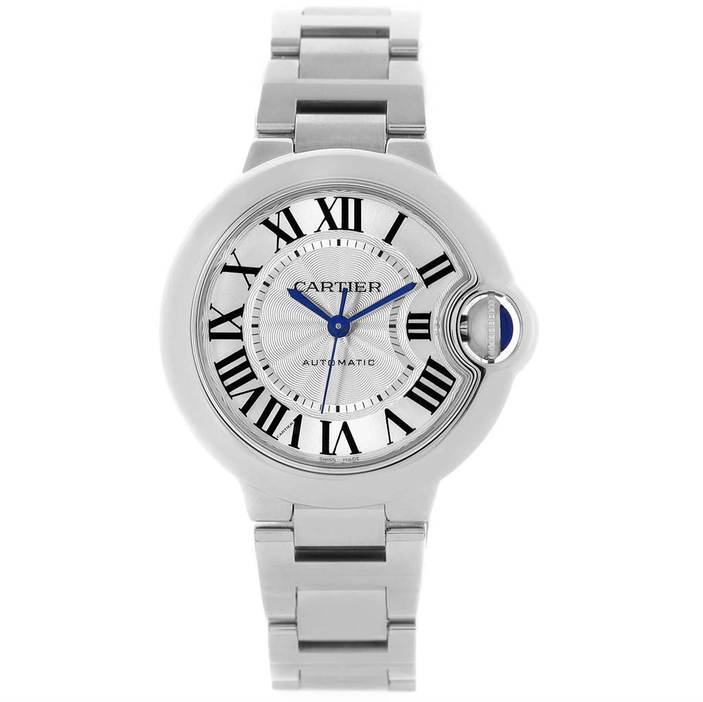 9aeb2e1ef902 ... 17753 Cartier Ballon Bleu Stainless Steel Automatic Womens Watch  W6920071 SwissWatchExpo ...