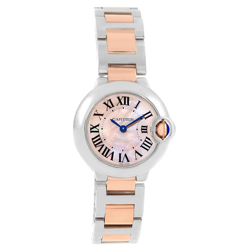 wholesale dealer f7a08 f0693 Cartier Ballon Bleu Small Steel Rose Gold MOP Ladies Watch W6920034