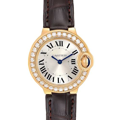 Photo of Cartier Ballon Bleu 28mm Yellow Gold Diamond Ladies Watch WE900151 Unworn