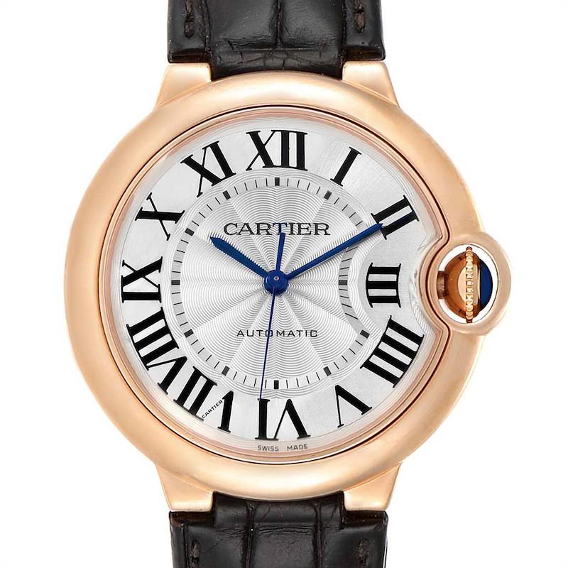 Cartier Ballon Bleu 36mm Automatic Rose Gold Ladies Watch WGBB0009 SwissWatchExpo