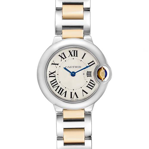 Photo of Cartier Ballon Bleu Steel Yellow Gold Small Ladies Watch W69007Z3