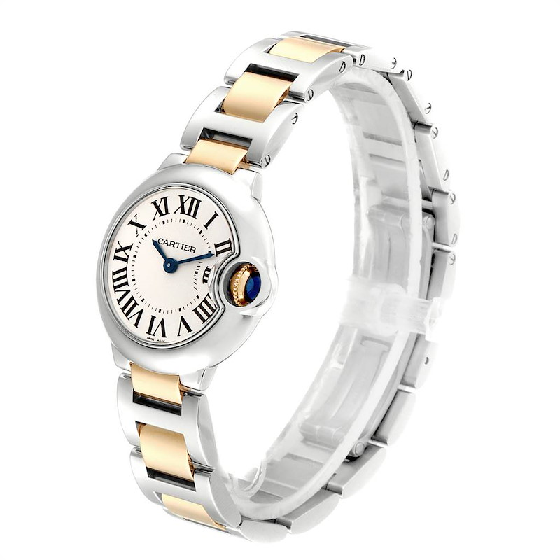 Cartier Ballon Bleu Steel Yellow Gold Small Ladies Watch W69007Z3 SwissWatchExpo