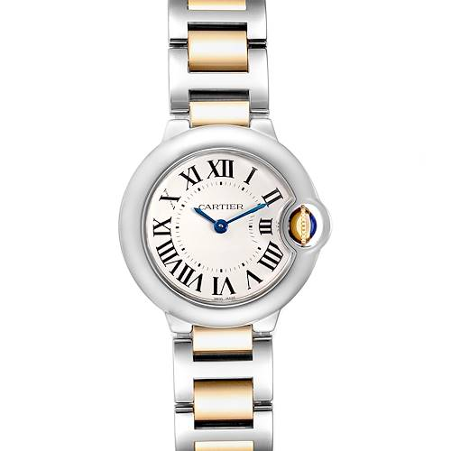 Cartier Ballon Bleu Steel Yellow Gold Small Ladies Watch W69007Z3