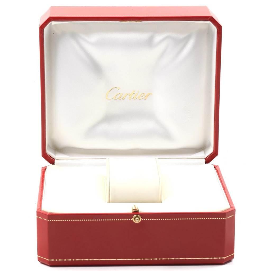 20264 Cartier Ballon Blue Steel Yellow Gold Small Ladies Watch W69007Z3 SwissWatchExpo