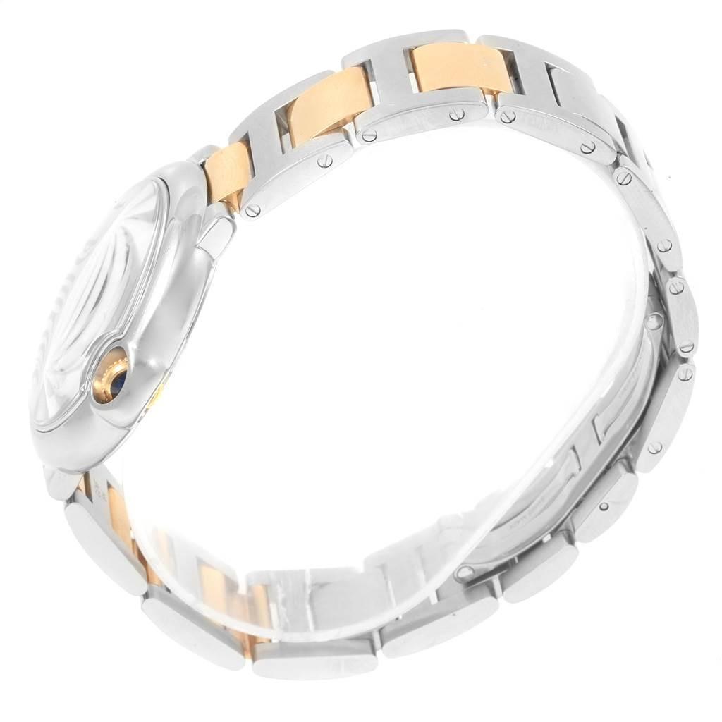20473 Cartier Ballon Bleu Midsize 36 Steel Yellow Gold Unisex Watch W69008Z3 SwissWatchExpo