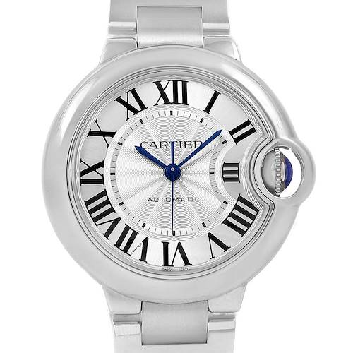 Photo of Cartier Ballon Bleu Steel Automatic Womens Watch W6920071 Box Papers