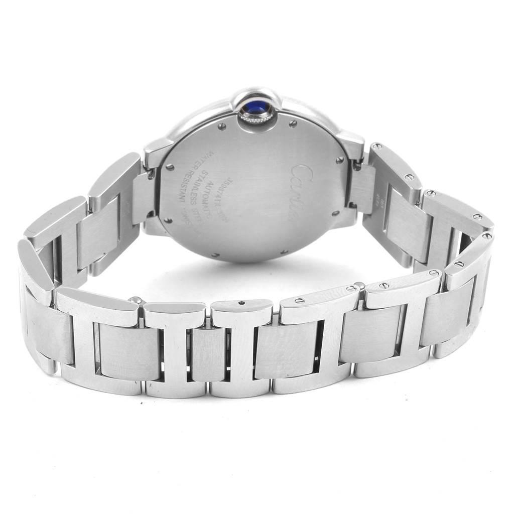 21344 Cartier Ballon Bleu Steel Midzize 36mm Ladies Watch W6920046 SwissWatchExpo