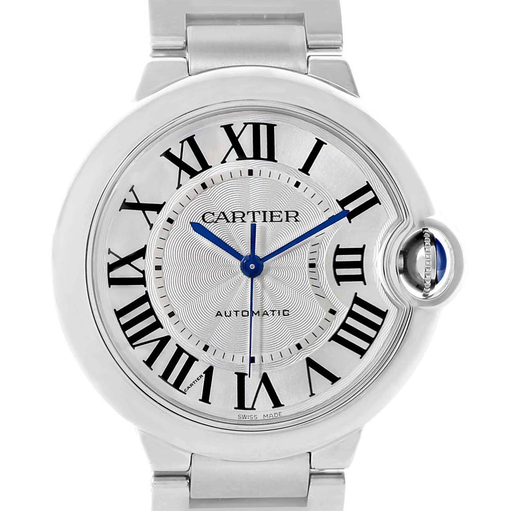 21344 Cartier Ballon Bleu Steel Midzize 36mm Ladies Watch W6920046 SwissWatchExpo