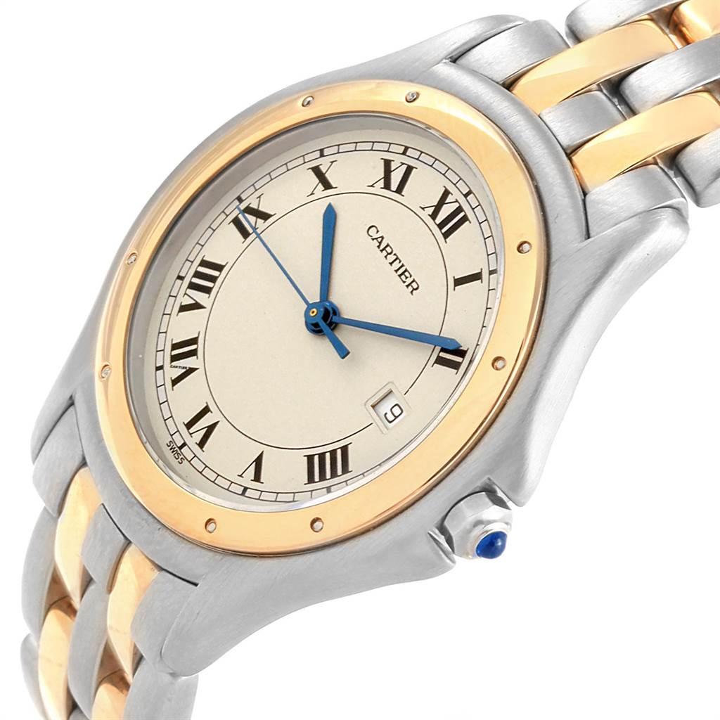 21150 Cartier Cougar Steel 18K Yellow Gold Unisex Watch W35006B6 SwissWatchExpo