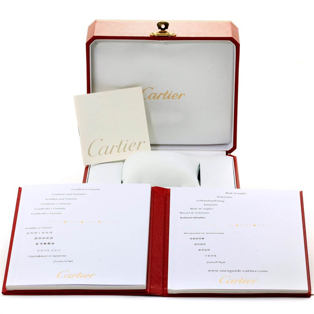 22639 Cartier Ballon Blue 29 Silver Dial Ladies Watch W69010Z4 Box Papers SwissWatchExpo