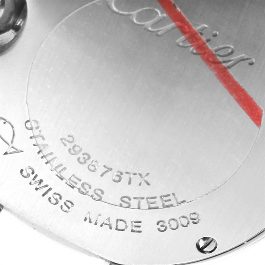 Cartier Ballon Blue 29 Silver Dial Ladies Watch W69010Z4 Box Papers SwissWatchExpo