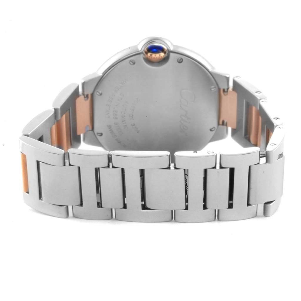 Cartier Ballon Bleu 36 Midsize Steel Rose Gold MOP Ladies Watch W2BB0011 SwissWatchExpo