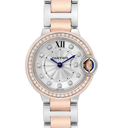 Photo of Cartier Ballon Bleu Steel Rose Gold Diamond Ladies Watch WE902076