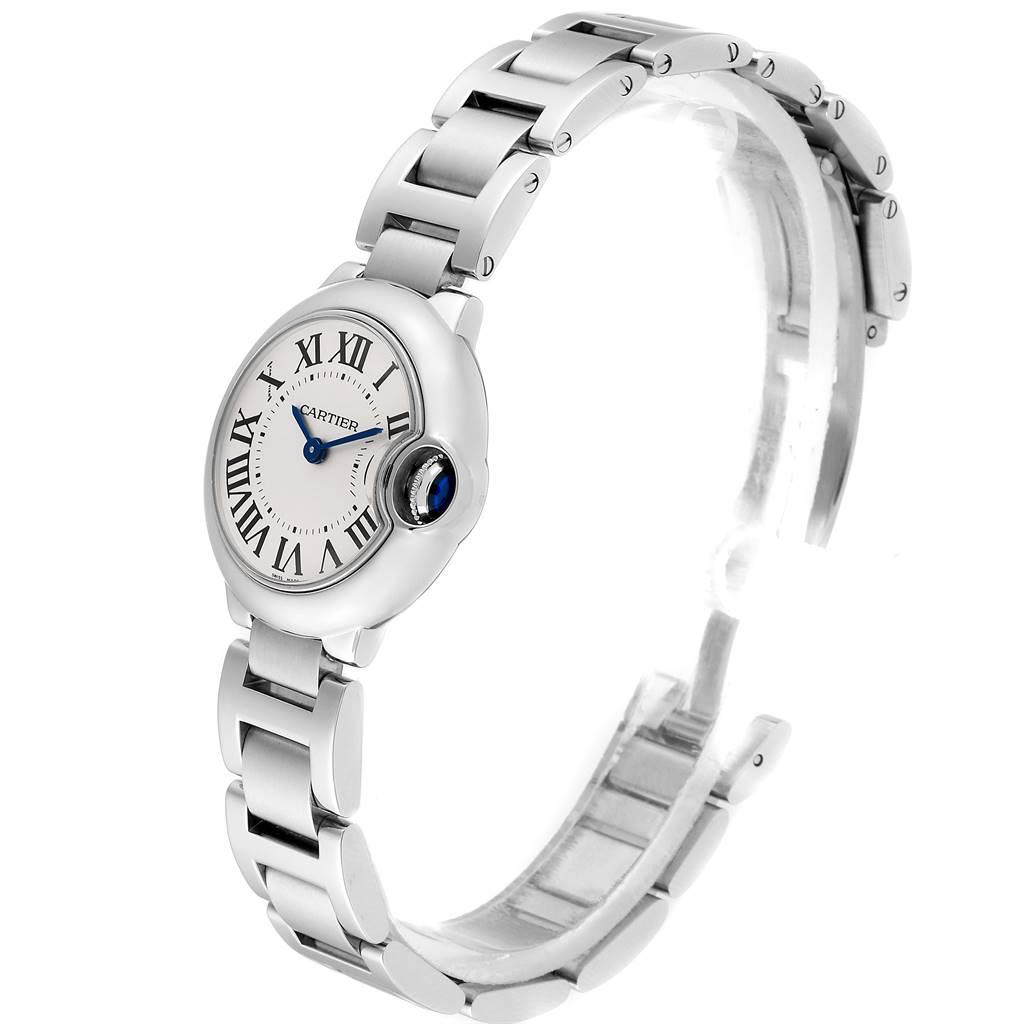 Cartier Ballon Bleu 29mm Silver Dial Ladies Watch W69010Z4 Box SwissWatchExpo