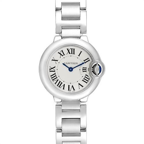 Photo of Cartier Ballon Bleu 29mm Silver Dial Ladies Watch W69010Z4 Box