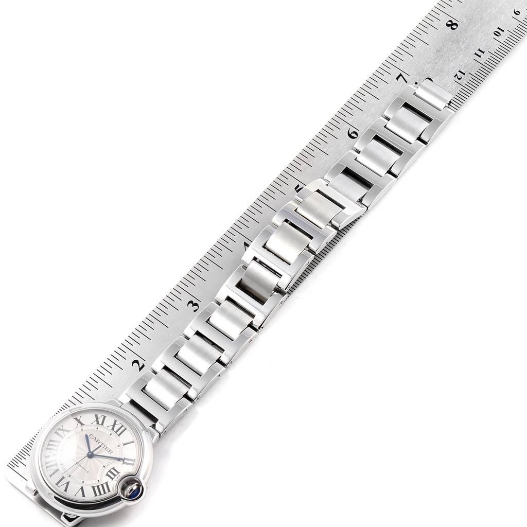 Cartier Ballon Bleu Midsize 36mm Silver Dial Steel Ladies Watch W6920046 SwissWatchExpo