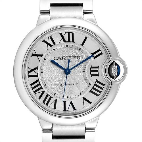 Photo of Cartier Ballon Bleu Midsize 36mm Silver Dial Steel Ladies Watch W6920046