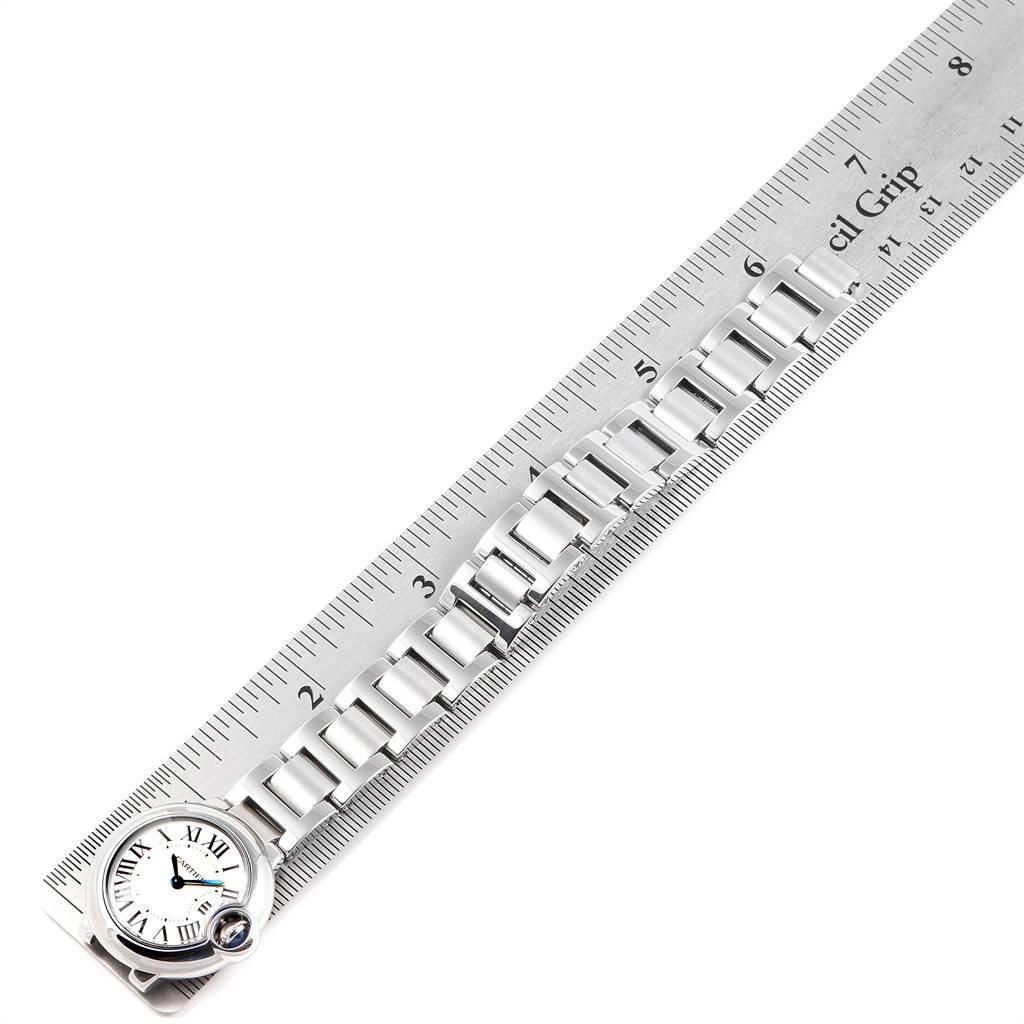 24829 Cartier Ballon Blue 29 Silver Dial Quartz Ladies Watch W69010Z4 SwissWatchExpo
