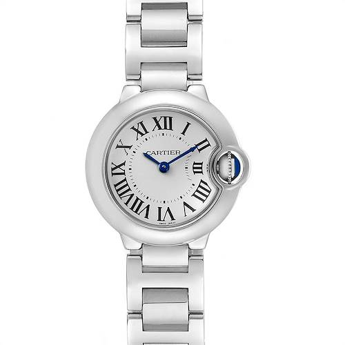 Cartier Ballon Bleu 29 Silver Dial Quartz Ladies Watch W69010Z4